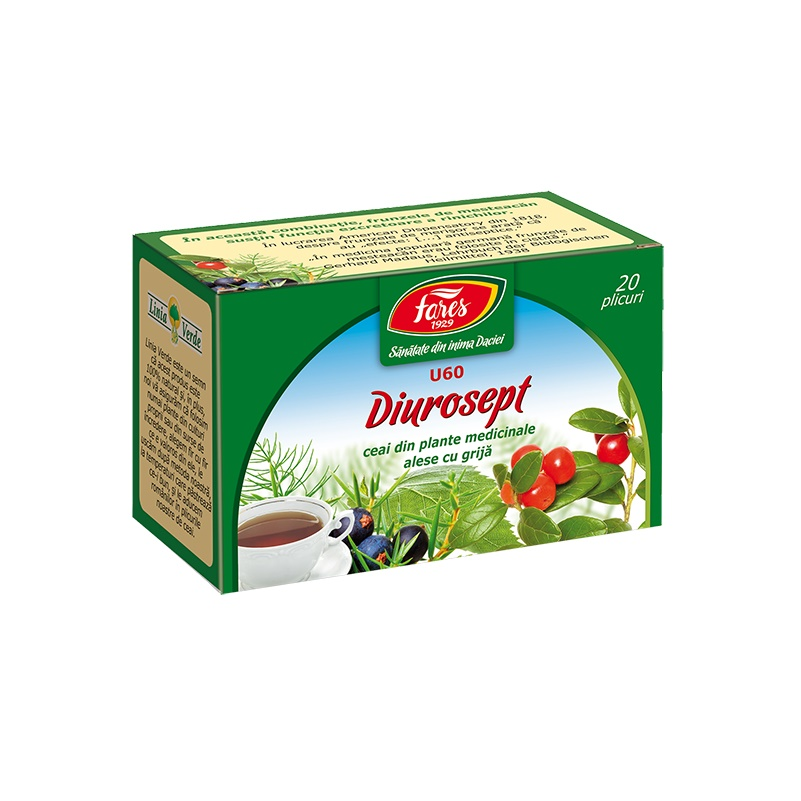 Ceai Diurosept, 20 plicuri, Fares drmax.ro