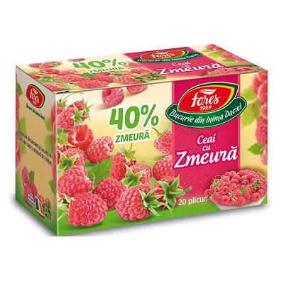 Ceai cu zmeura 40%, 20 plicuri, Fares drmax.ro