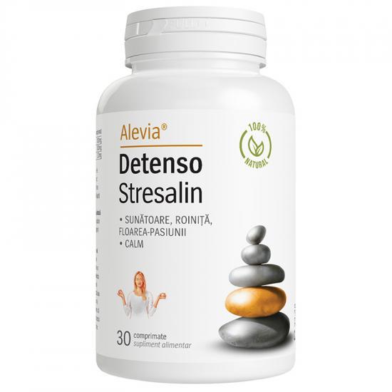 Detenso Stresalin, 30 comprimate, Alevia drmax.ro