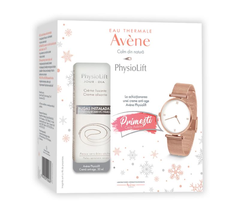 Pachet Crema de zi Physiolift 30ml + Ceas cadou, Avene imagine produs 2021