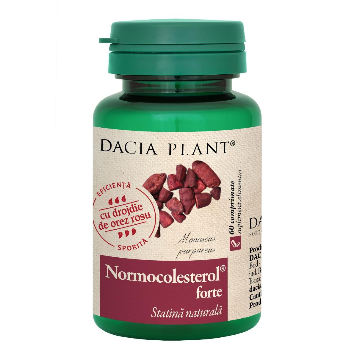 Normocolesterol forte, 60 comprimate, Dacia Plant drmax.ro