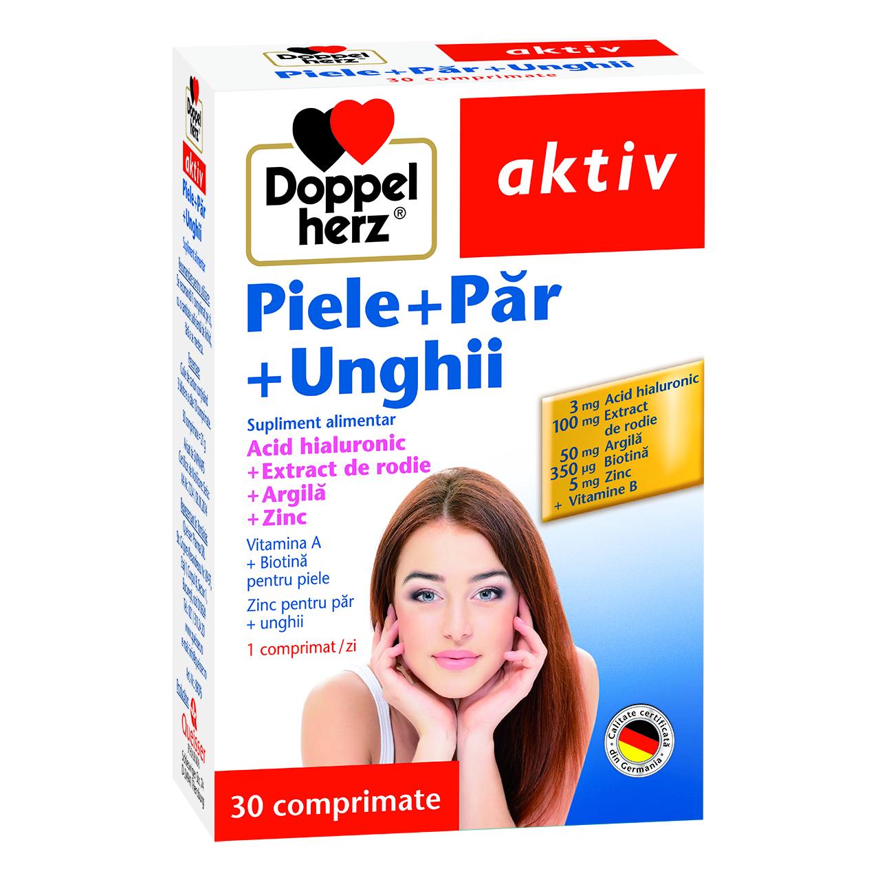 Piele + Par + Unghii, 30 comprimate, Doppelherz drmax.ro