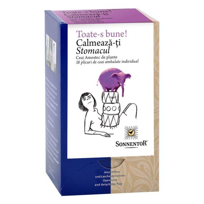 Ceai Bio Calmeaza-ti Stomacul, 18 plicuri, Sonnentor drmax.ro