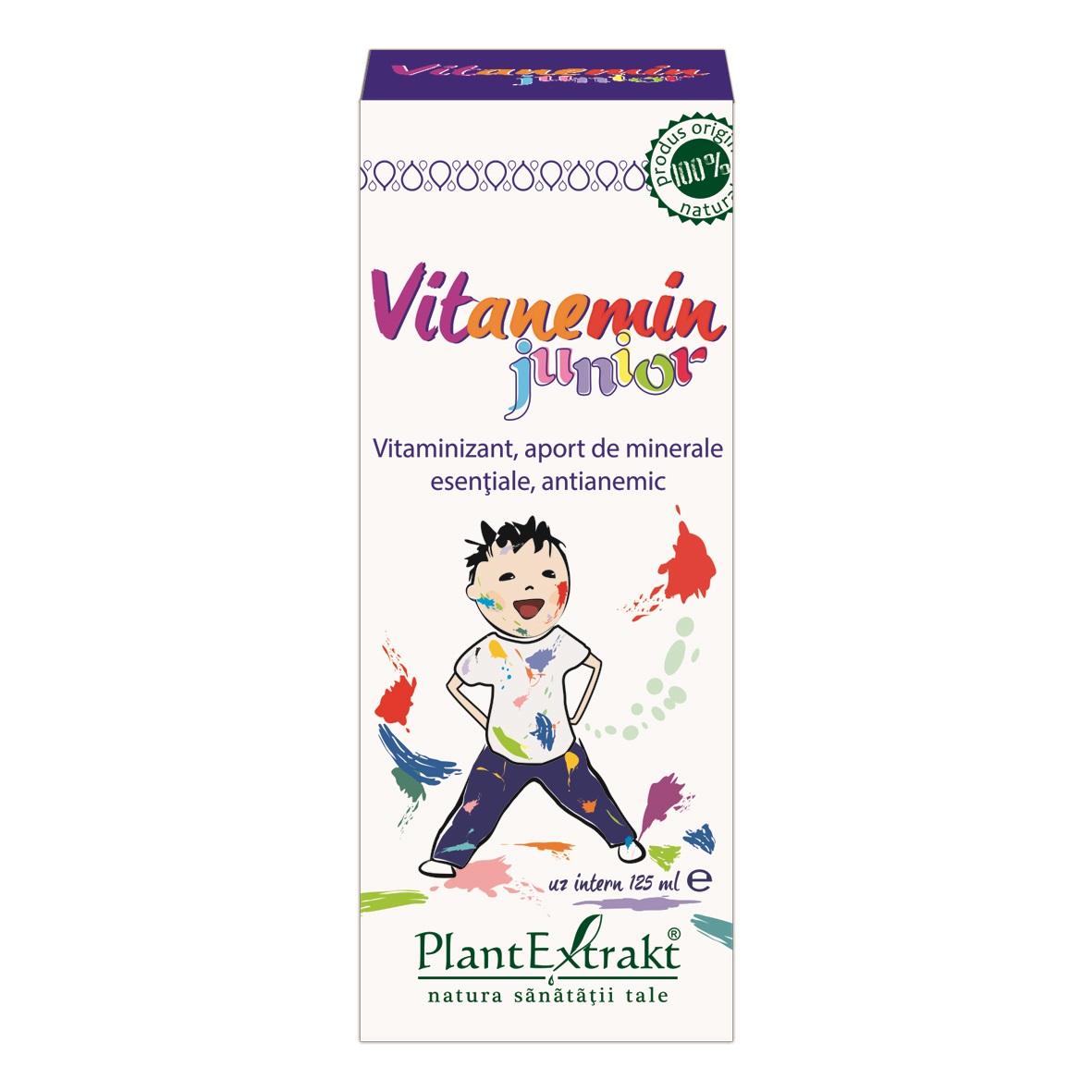 Vitanemin Junior, 125ml, Plantextrakt la preț mic imagine