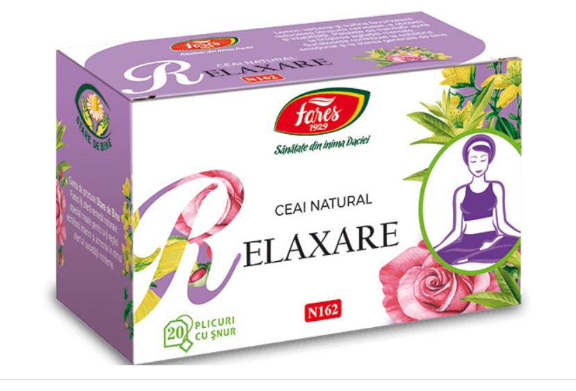 Ceai Relaxare, 20 plicuri, Fares drmax.ro