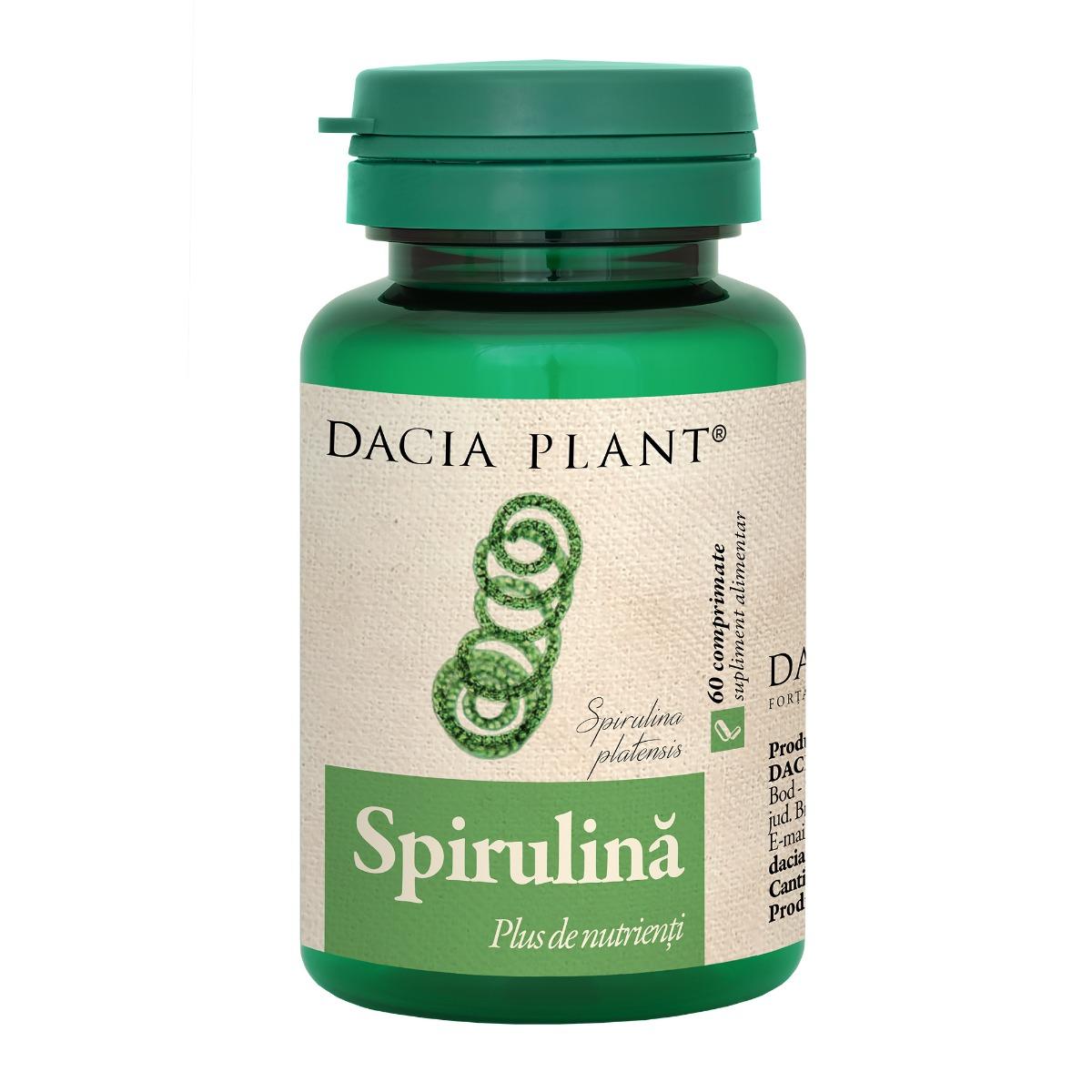Spirulina, 60 comprimate, Dacia Plant drmax.ro