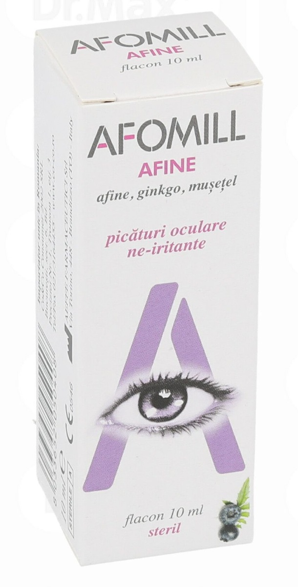 Picaturi Afomill afine, 10 ml, AF United imagine produs 2021