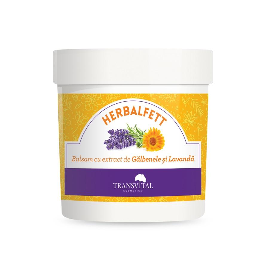 Herbalfett Balsam cu extract de Galbenele si Lavanda, 250ml, Transvital drmax poza