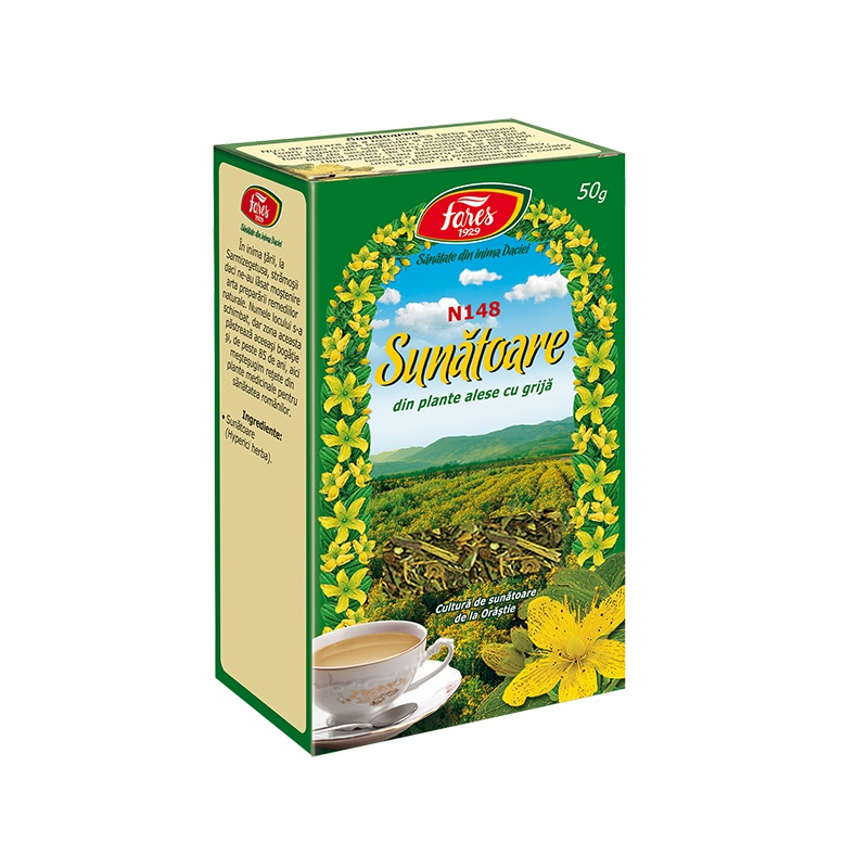 Ceai de Sunatoare, 50 g, Fares drmax.ro