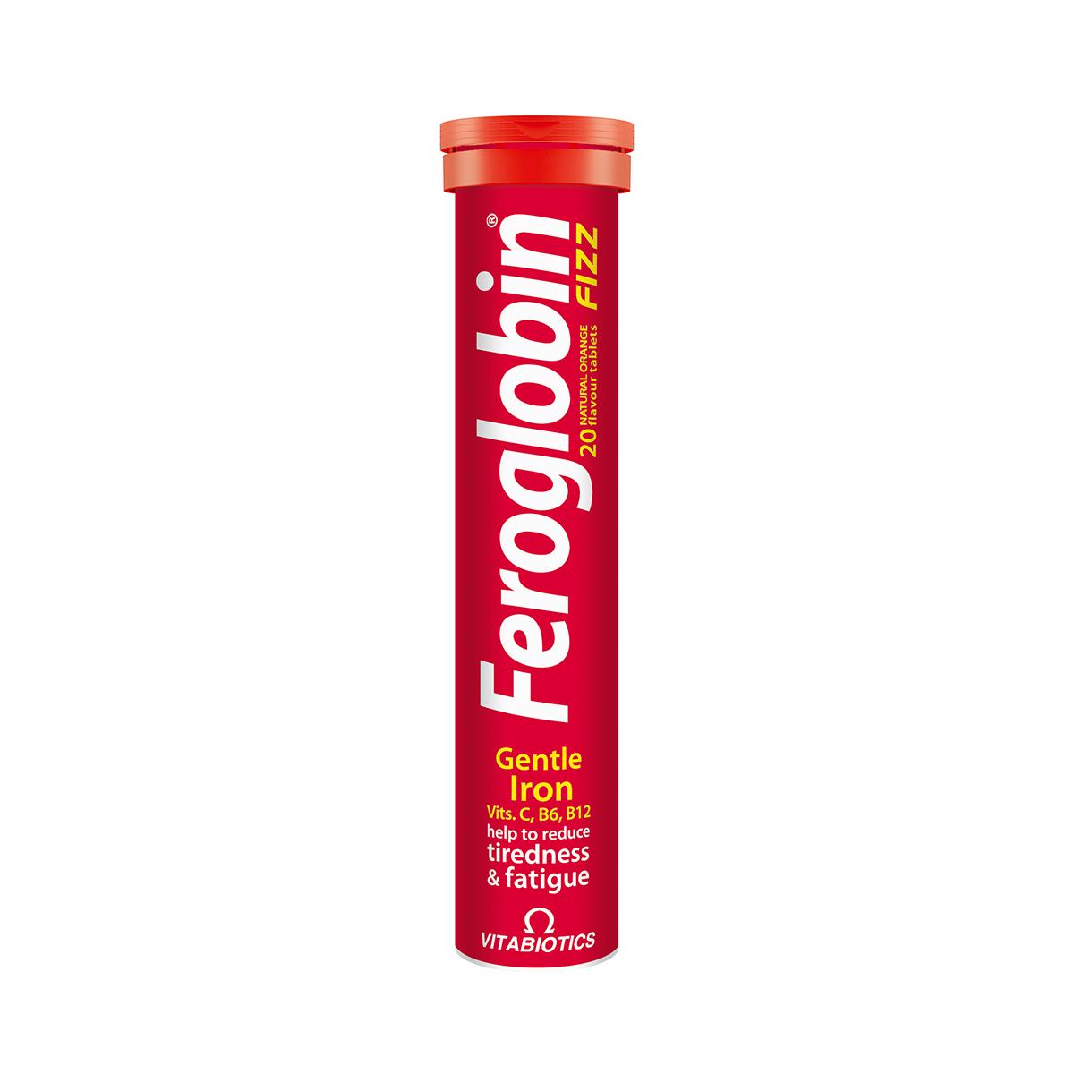 Feroglobin Fizz, 20 comprimate efervescente, Vitabiotics drmax.ro