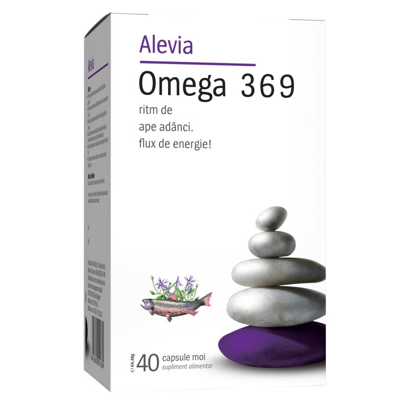 Omega 3-6-9, 40 capsule, Alevia imagine produs 2021