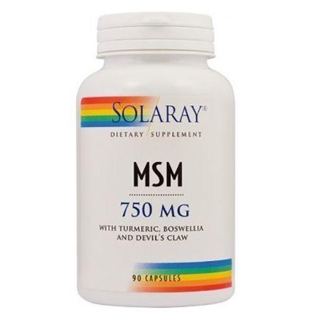 Solaray MSM, 90 capsule, Secom drmax poza