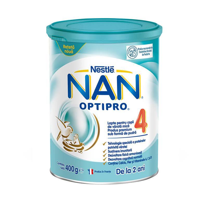 Lapte praf Nan 4 Optipro Premium, incepand de la 2 ani, 400 g, Nestle drmax poza