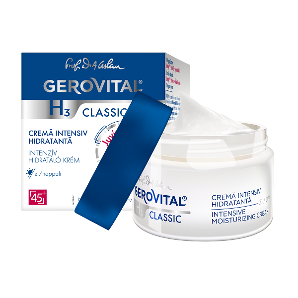 Crema de zi intens hidratanta H3 Classic, 50ml, Gerovital