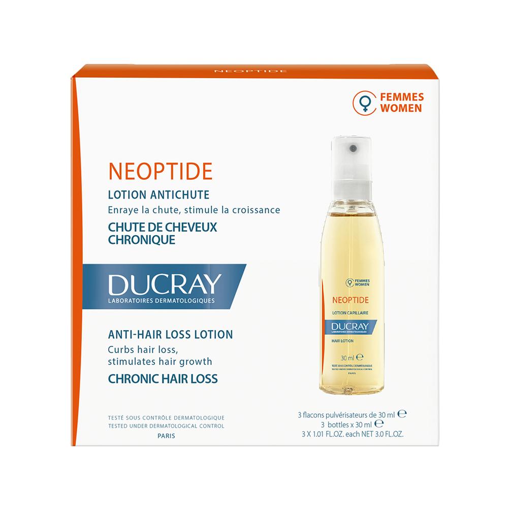 Tratament impotriva caderii parului pentru femei Neoptide, 3 x 30 ml, Ducray drmax.ro