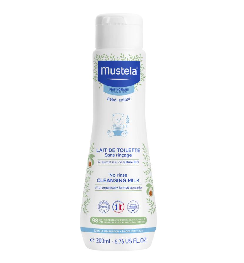 Lapte de curatare fara clatire pentru piele normala, 200ml, Mustela drmax.ro