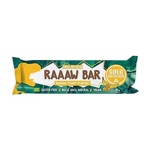 Baton Bio Raaaw Bar cu banane si arahide, 35g, Gold Nutrition