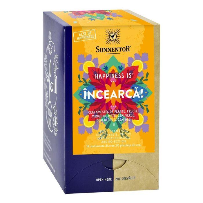 Ceai Bio Happiness Incearca!, 20 plicuri, Sonnentor drmax.ro