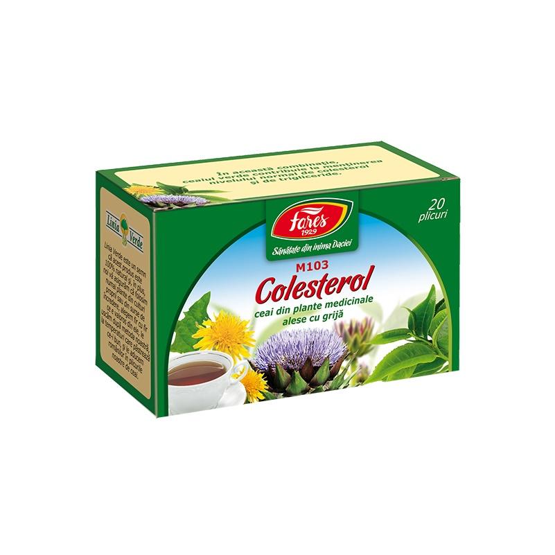 Ceai Colesterol, 20 plicuri, Fares drmax.ro