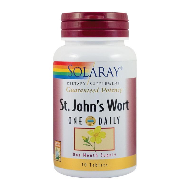 St. John's Wort (Sunatoare) 900mg, 30 tablete, Secom imagine produs 2021