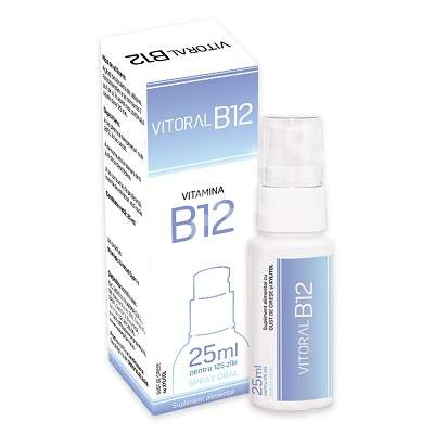 Spray oral pentru adulti Vitoral B12, 25ml, Vitalogic drmax.ro
