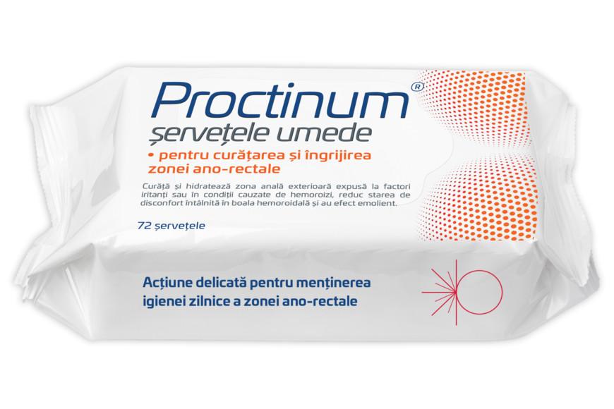 Proctinum servetele umede pentru igiena ano-rectala, 72 bucati, Zdrovit drmax.ro