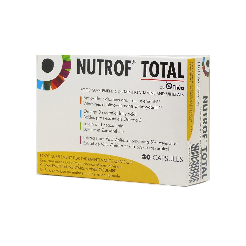 Nutrof Total, 30 capsule, Thea imagine produs 2021