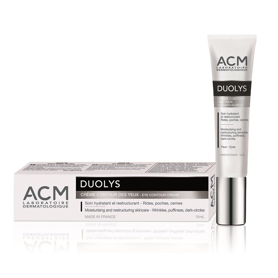 Crema hidratanta si restructuranta contur ochi Duolys, 15ml, ACM drmax.ro
