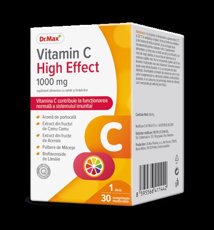 Dr.Max Vitamina C 1000 High Effect 30cpr masticabile la preț mic imagine