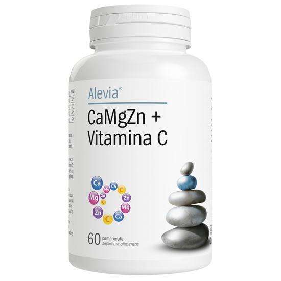 CaMgZn + Vitamina C, 60 comprimate, Alevia imagine produs 2021
