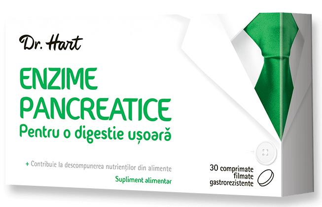 Dr.Hart Enzime pancreatice, 30 comprimate imagine produs 2021
