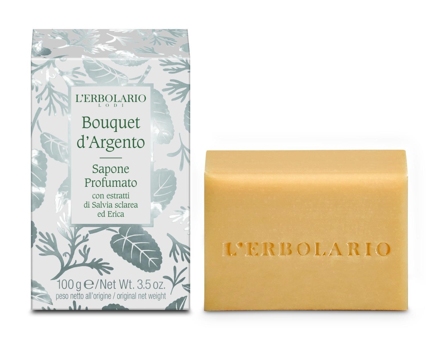 Sapun parfumat Silver Bouquet, 100g, L'Erbolario drmax poza