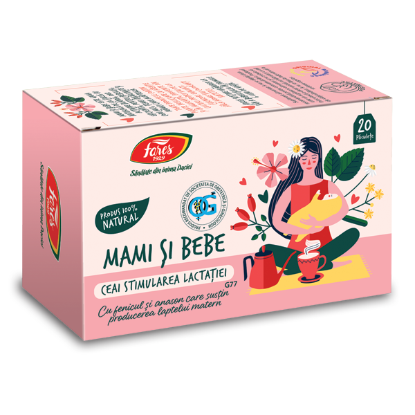 Ceai Stimularea lactatiei, 20 plicuri, Fares drmax.ro