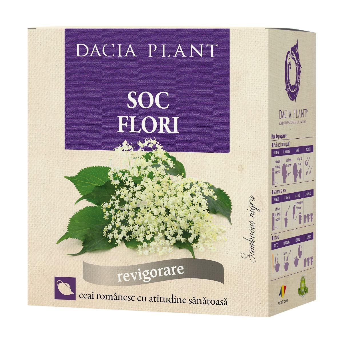 Ceai flori de soc, 50g, Dacia Plant drmax.ro