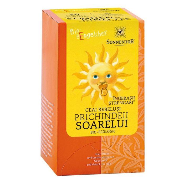 Ceai Bio Ingerasii Strengari Prichindeii Soarelui - Ceai Bebelusi, 20 plicuri, Sonnentor drmax.ro