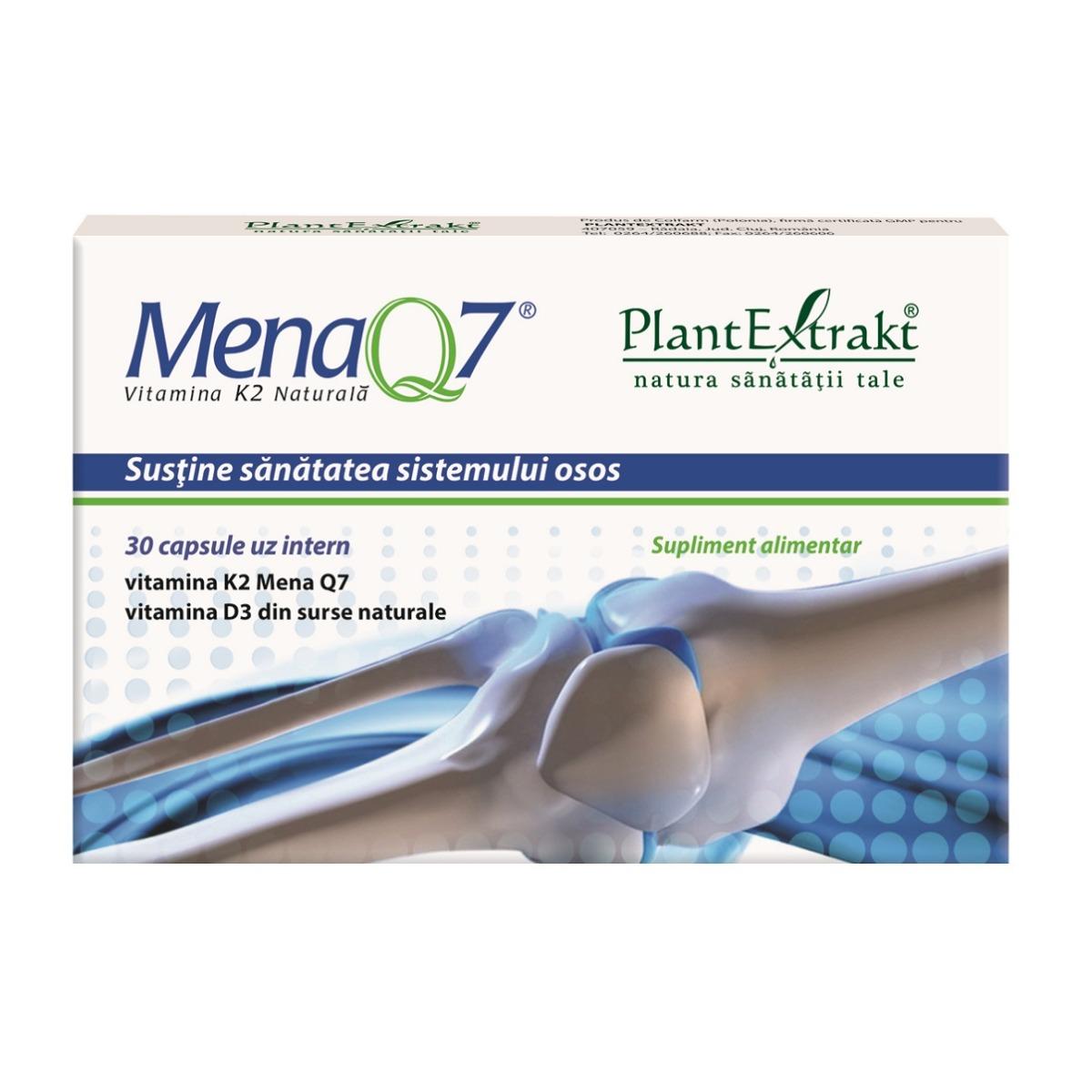 Mena Q7 vitamina K2 naturala, 30 capsule, Plant Extrakt imagine produs 2021