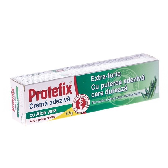 Protefix Extra-Forte crema adeziva cu Aloe Vera, 47g, Queisser Pharma drmax.ro