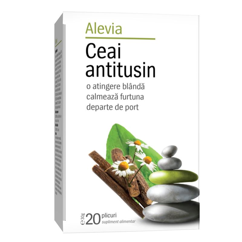 Ceai antitusin, 20 plicuri, Alevia drmax.ro