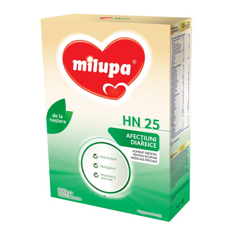 Lapte praf formula dietetica HN-25, incepand de la nastere, 300 g, Milupa