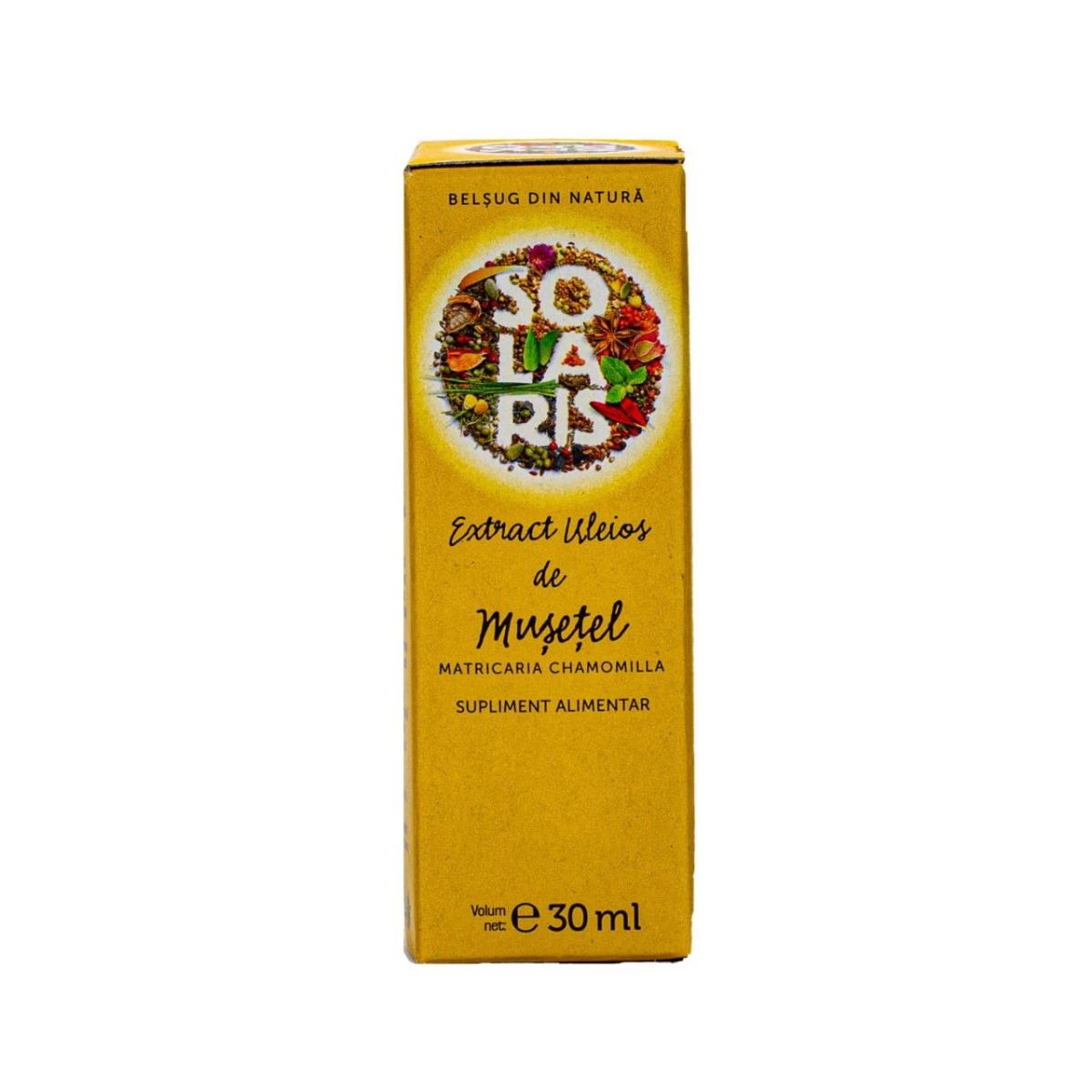 Extract uleios de musetel, 30ml, Solaris drmax.ro