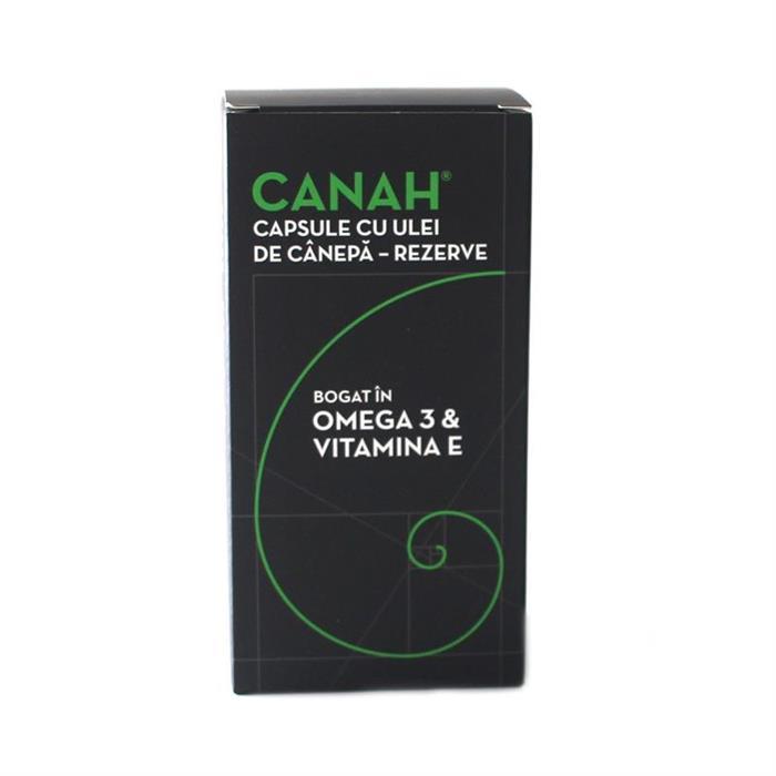 Rezerve capsule cu ulei de canepa, 84 bucati, Canah drmax.ro