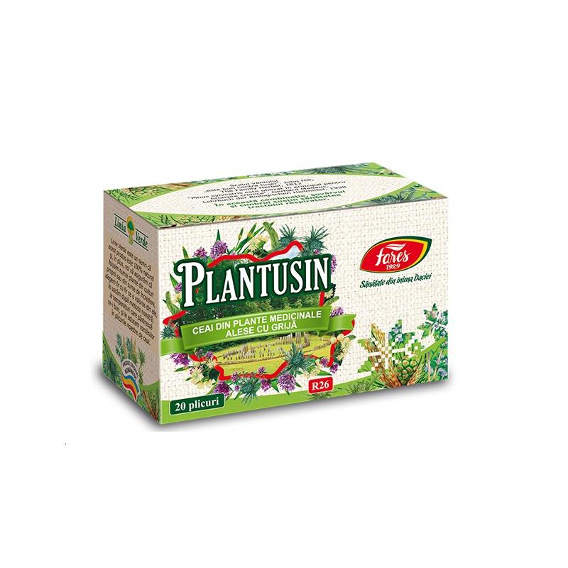 Ceai Plantusin, 20 plicuri, Fares drmax.ro