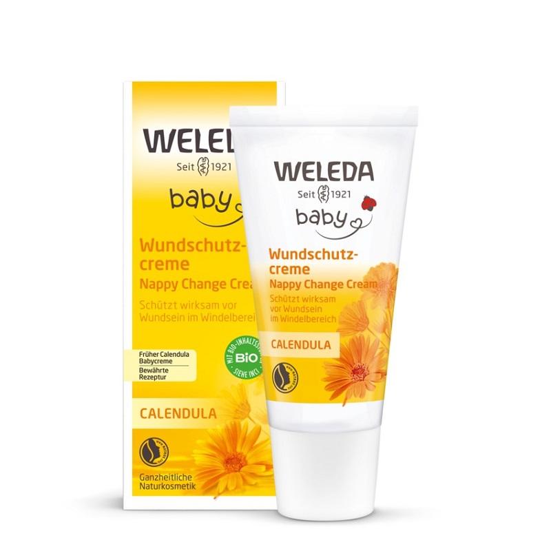 Crema de galbenele pentru zona scutecului Baby, 75ml, Weleda imagine produs 2021