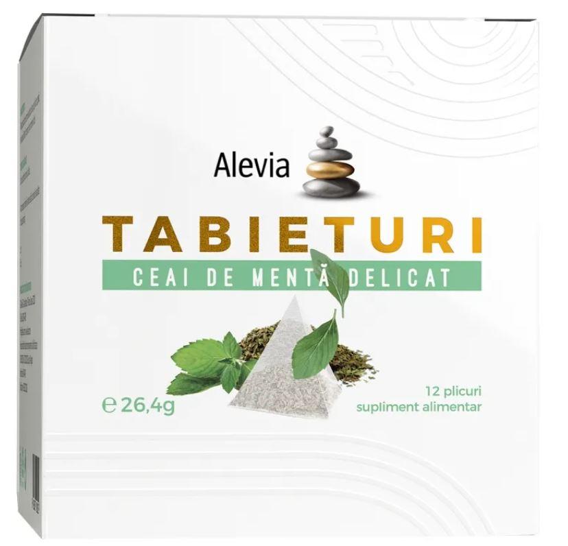 Ceai de menta delicata Tabieturi, 12 plicuri, Alevia drmax.ro