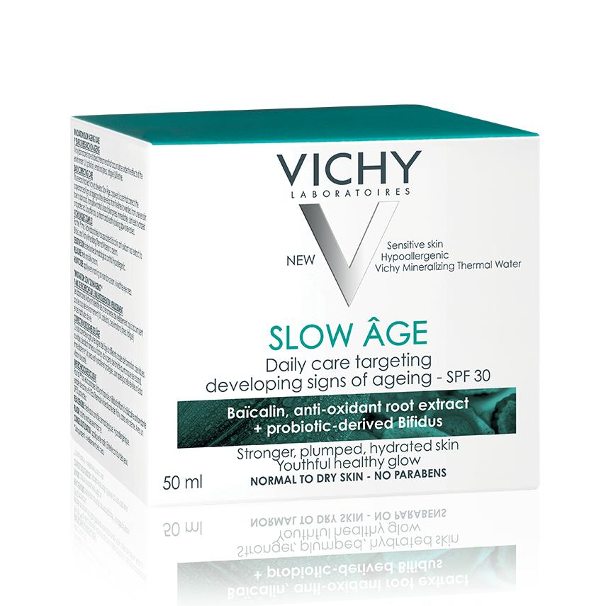 Crema antirid zilnica corectare semne de imbatranire SPF30 Slow Age, 50 ml, Vichy drmax.ro