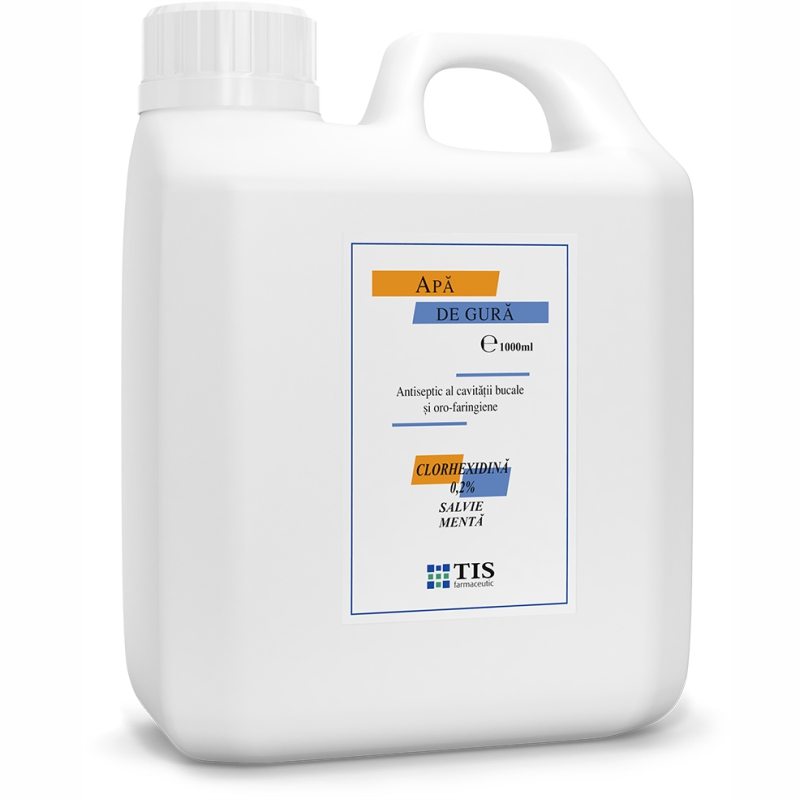 Apa de gura cu 0,2% Clorhexidina, 1000ml, Tis Farmaceutic drmax.ro