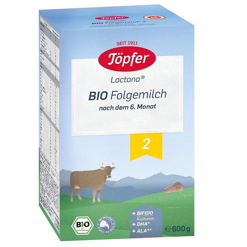 Lapte praf Bio 2 de la 6 luni, 600g, Topfer drmax.ro