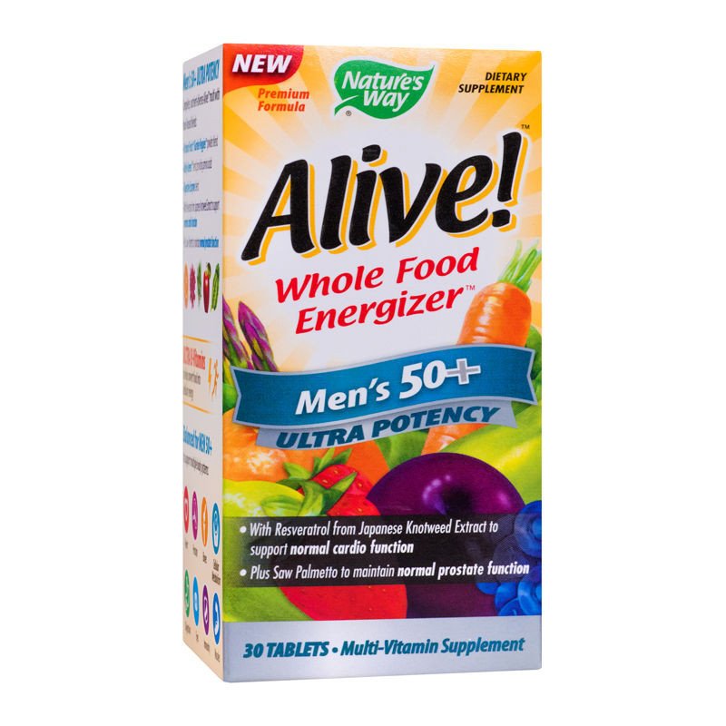 Alive Once Daily Mens 50+ Ultra Nature's Way, 30 tablete, Secom imagine produs 2021