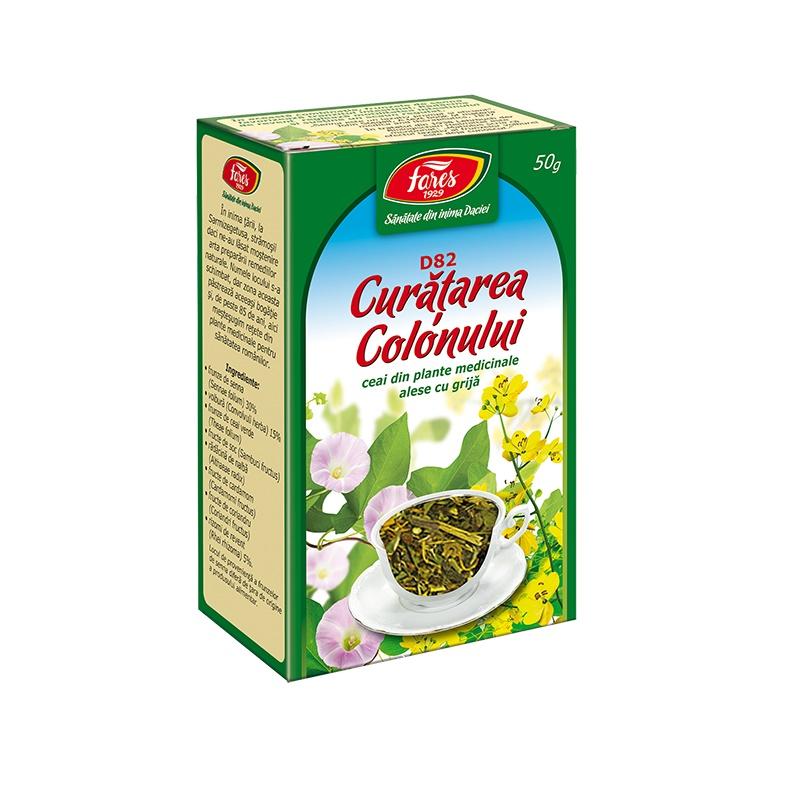 Ceai Curatarea Colonului, 50 g, Fares drmax.ro