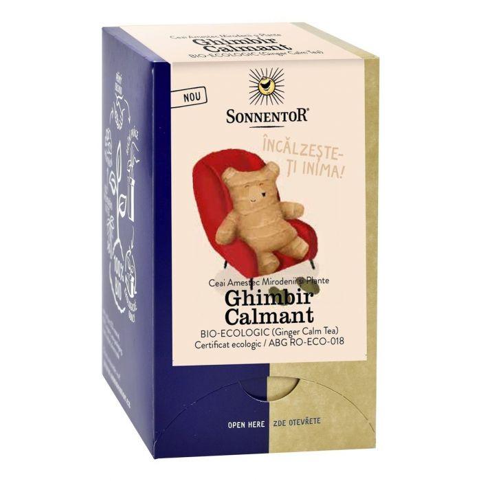 Ceai Bio Ghimbir Calmant, 18 plicuri, Sonnentor